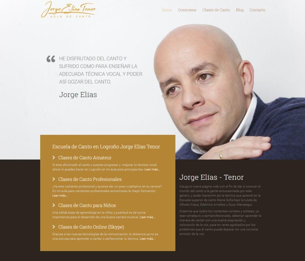 Escuela de Canto en Logroño Tenor Jorge Elias