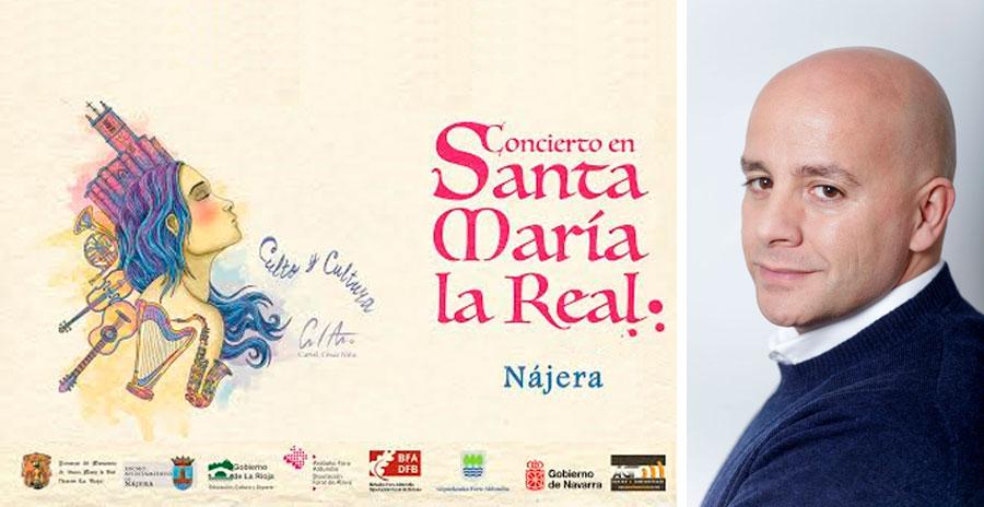 Concierto Jorge Elías Tenor en Claustro de Santa María (Nájera)